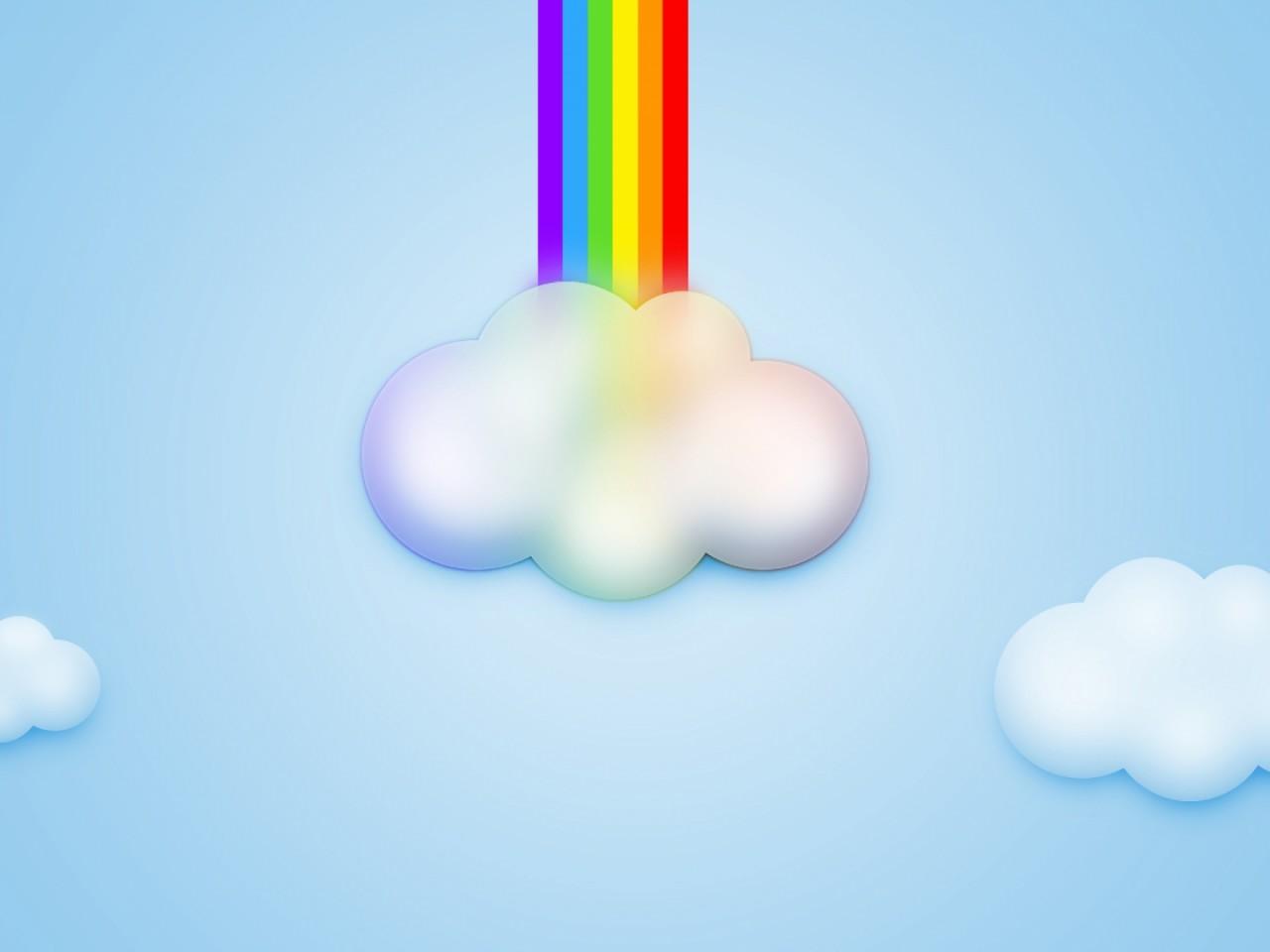Spring Landscape With Rainbow HD desktop wallpaper Widescreen