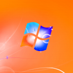 Orange Windows Logo Wallpaper