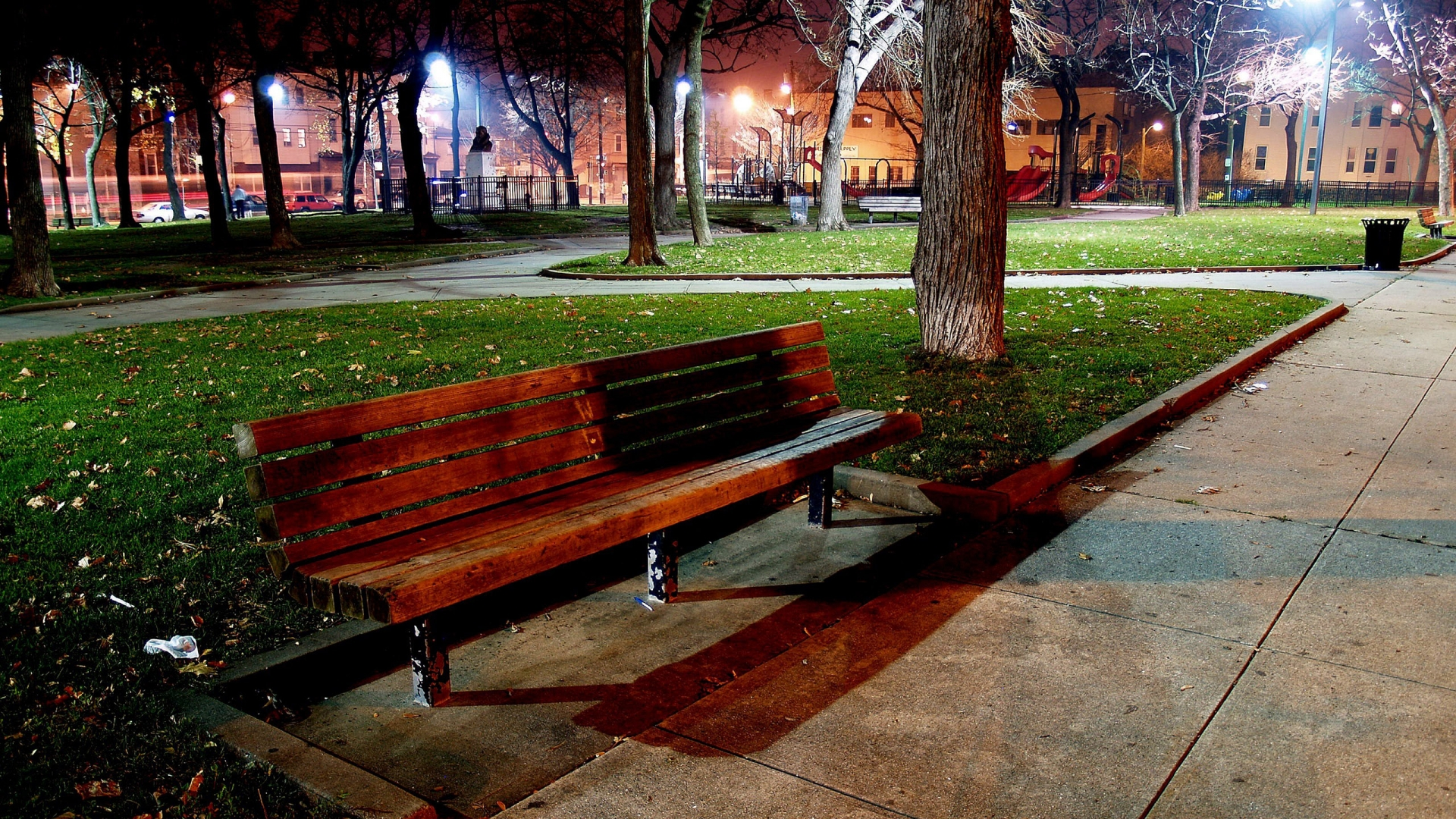 Park bench wallpaper - HD Wallpapers