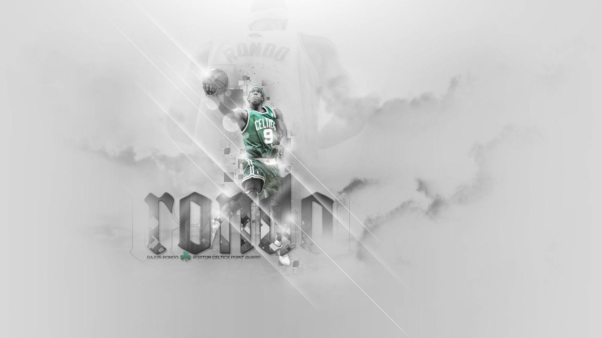 Rajon Rondo Layup basket ball wallpaper