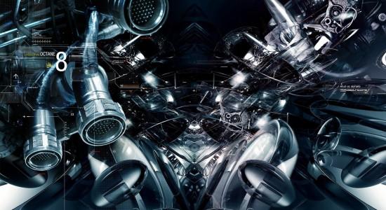 Futuristic machine wallpaper