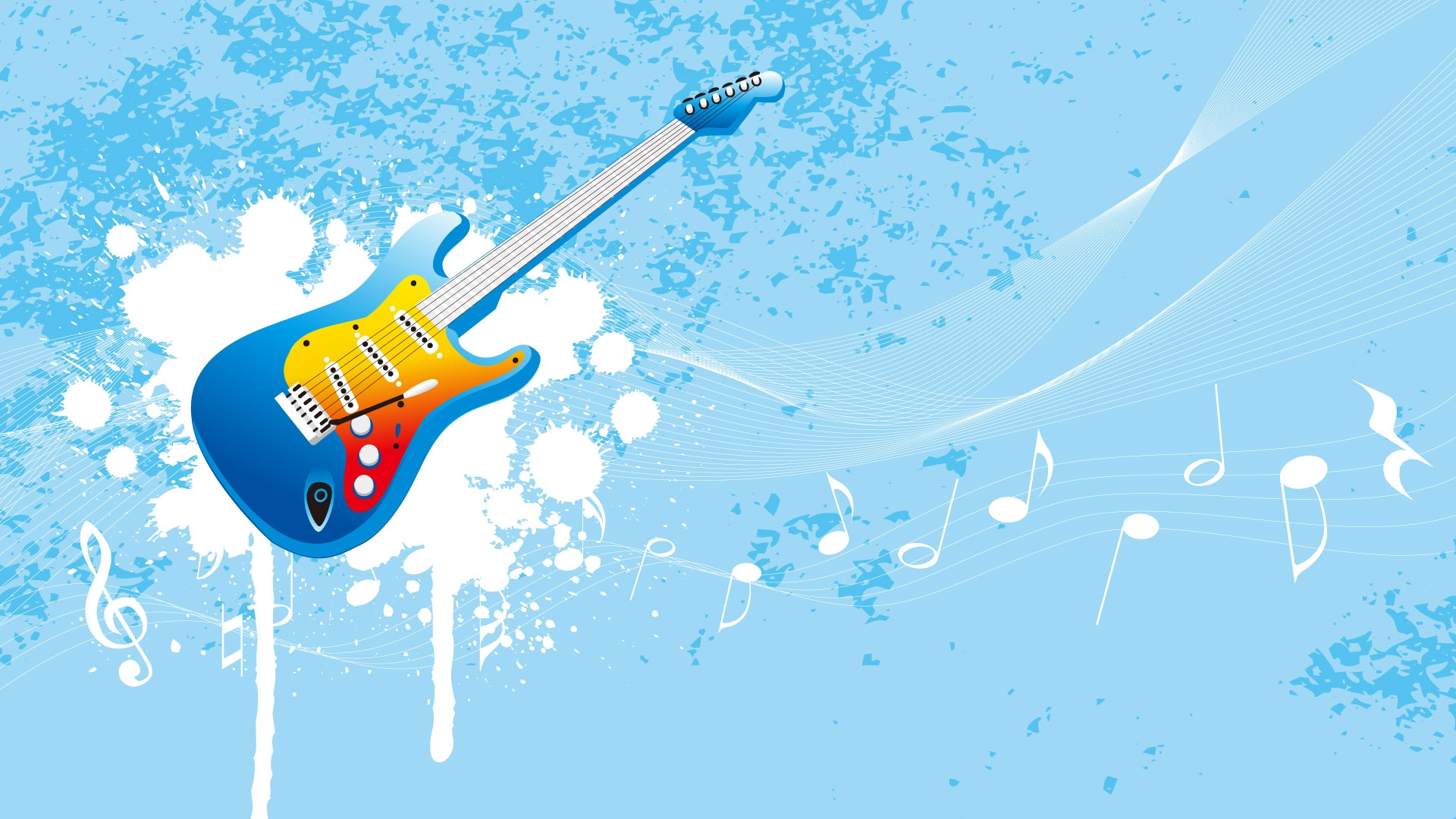Guitar vector wallpaper