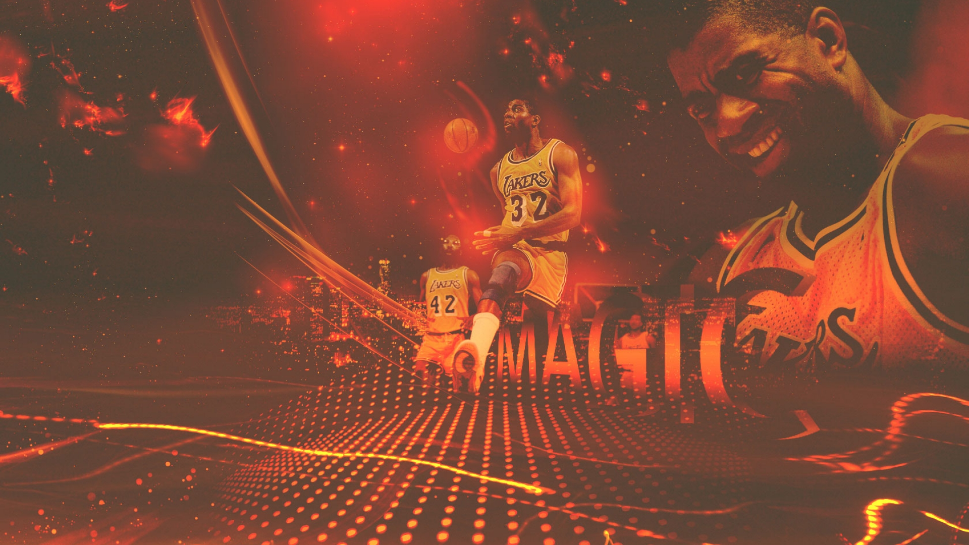 Magic Johnson Lakers wallpaper