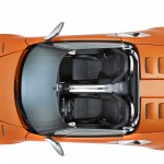 Birds eye view sports car wallpaper