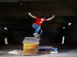 Skateboard grind wallpaper