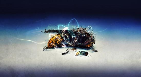 Fantasy wasp wallpaper
