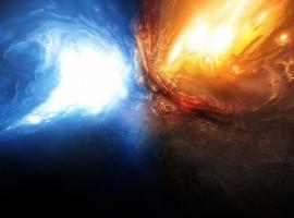 Glacial Inferno Wallpaper