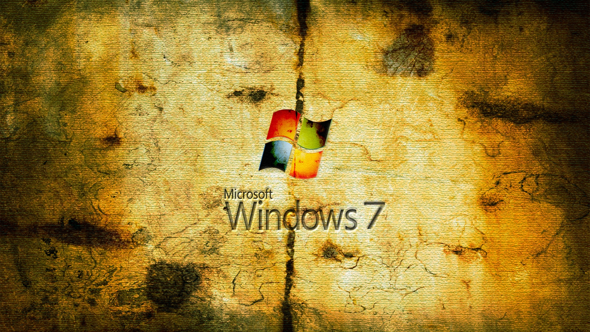 Worn Windows 7 Wallpaper