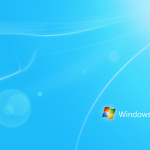 Blue With Logo Windows 7