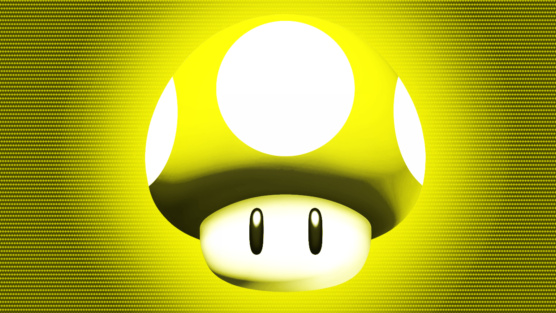 Yellow Mushroom Wallpaper