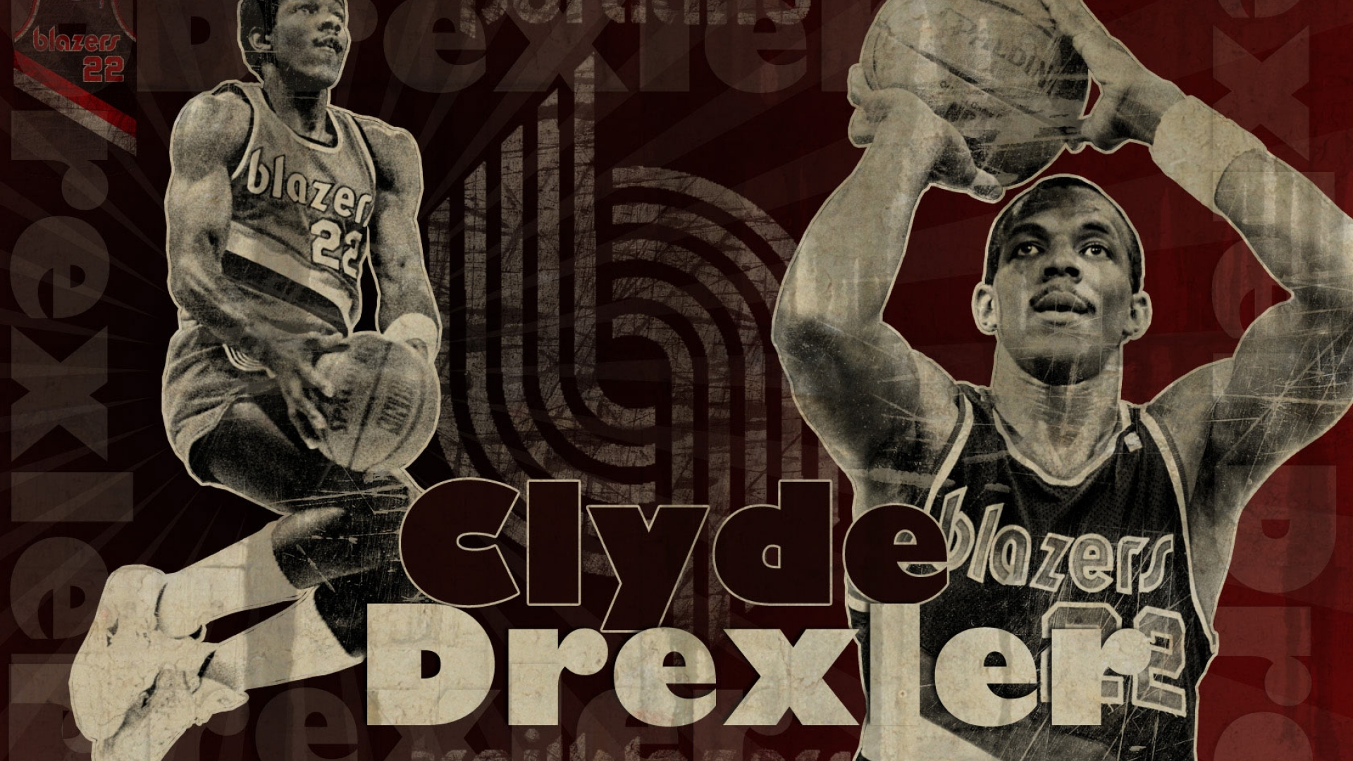 Clyde Drexler Blazers basket ball wallpaper