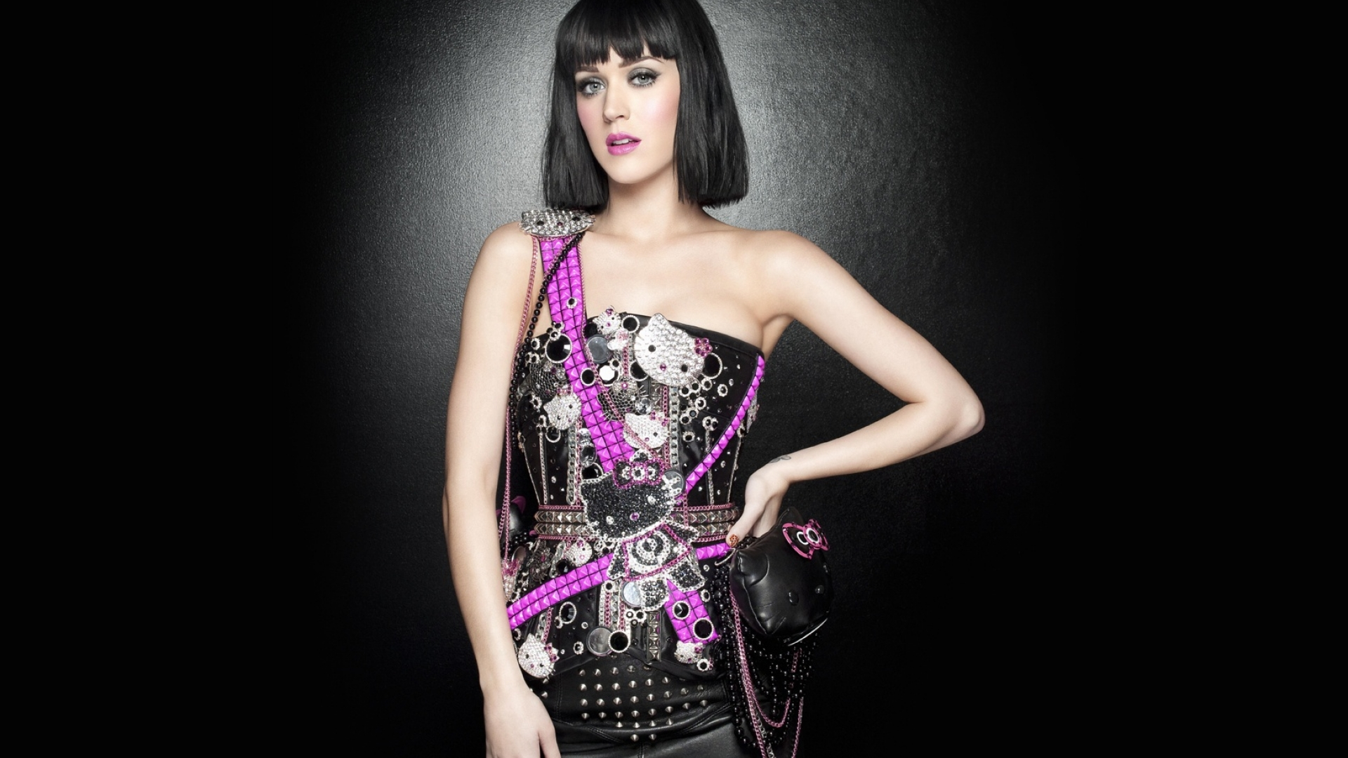 Katy Perry rocker dress wallpaper