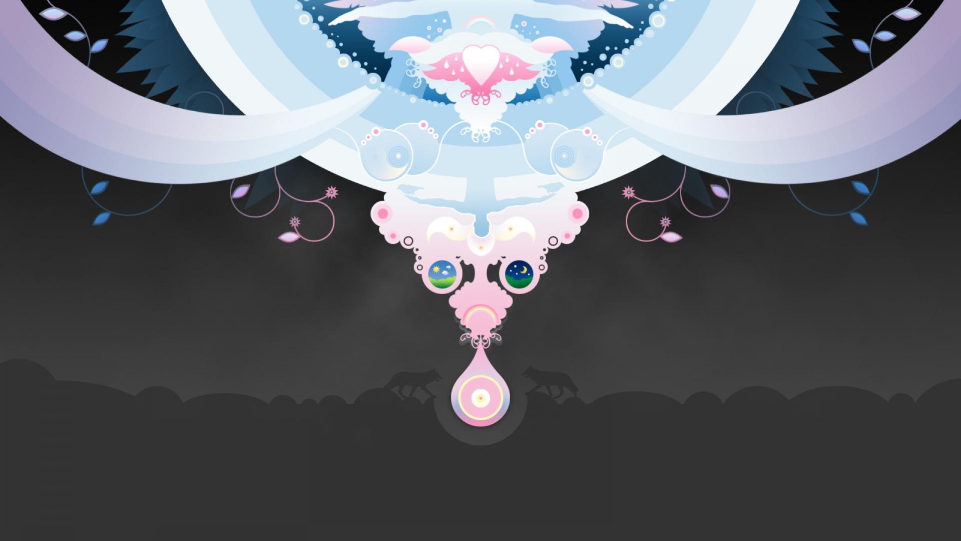 Vector angel wallpaper