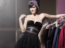 Katy Perry black dress wallpaper