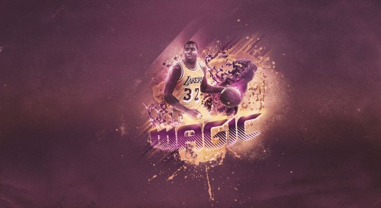 Magic Lakers NBA wallpaper