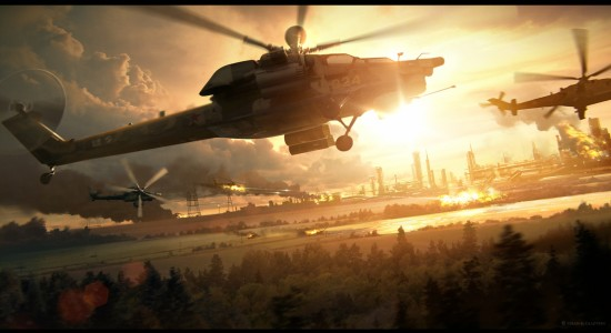 3D Attack Helicopter Wallpaper