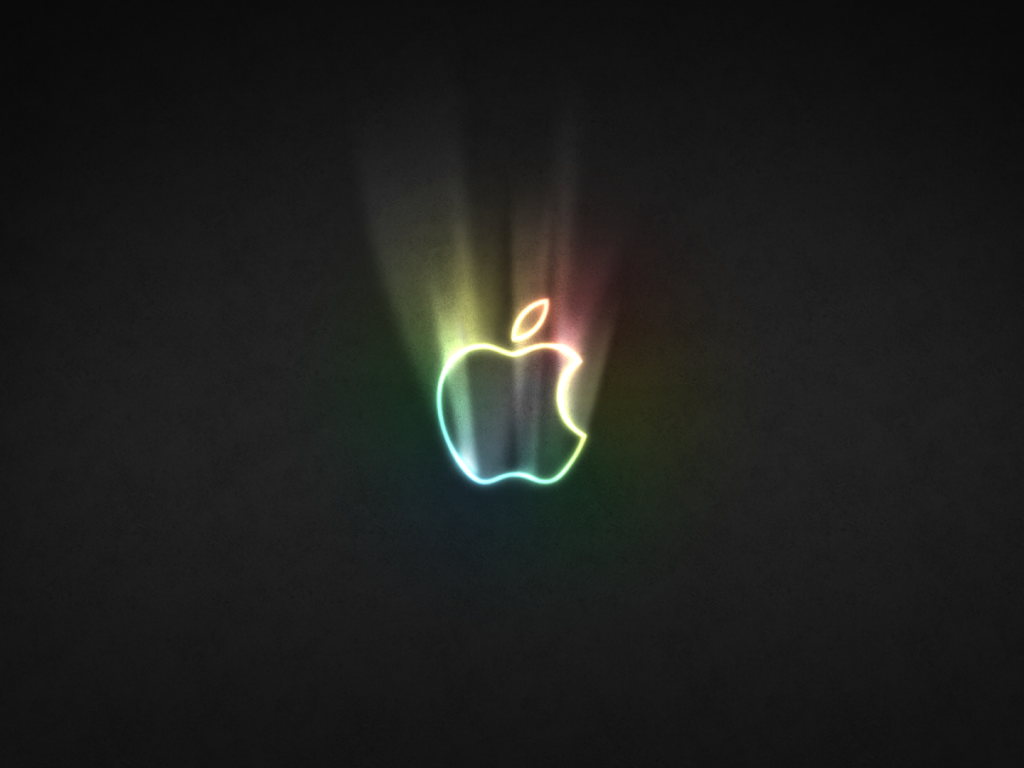 Apple Glowing Logo Wallpaper Good Quality