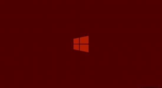 Orange Windows 8 Logo Wallpaper