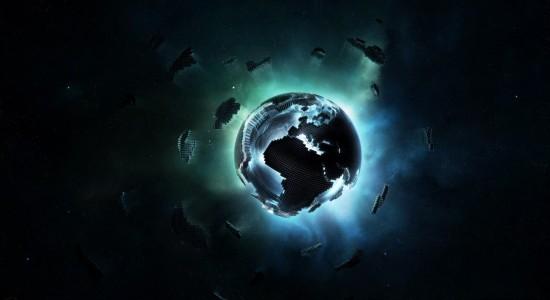 Pixel Earth Wallpaper