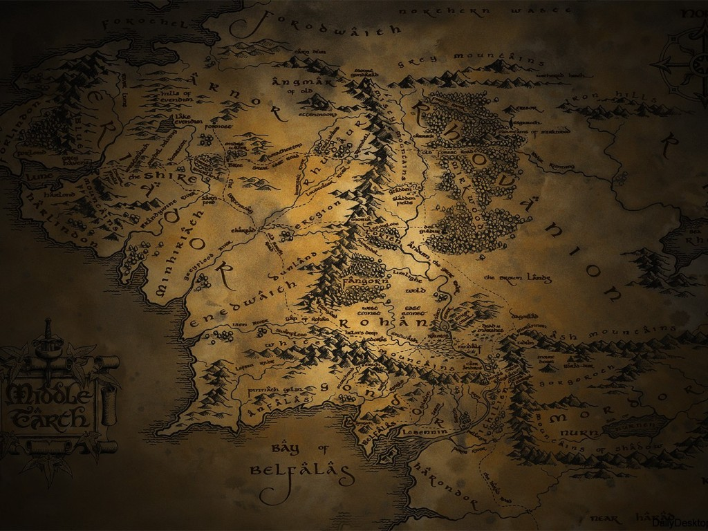 Middle Earth HD Wallpapers - World map ipad wallpaper