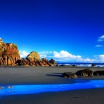 Beautiful blue seafront