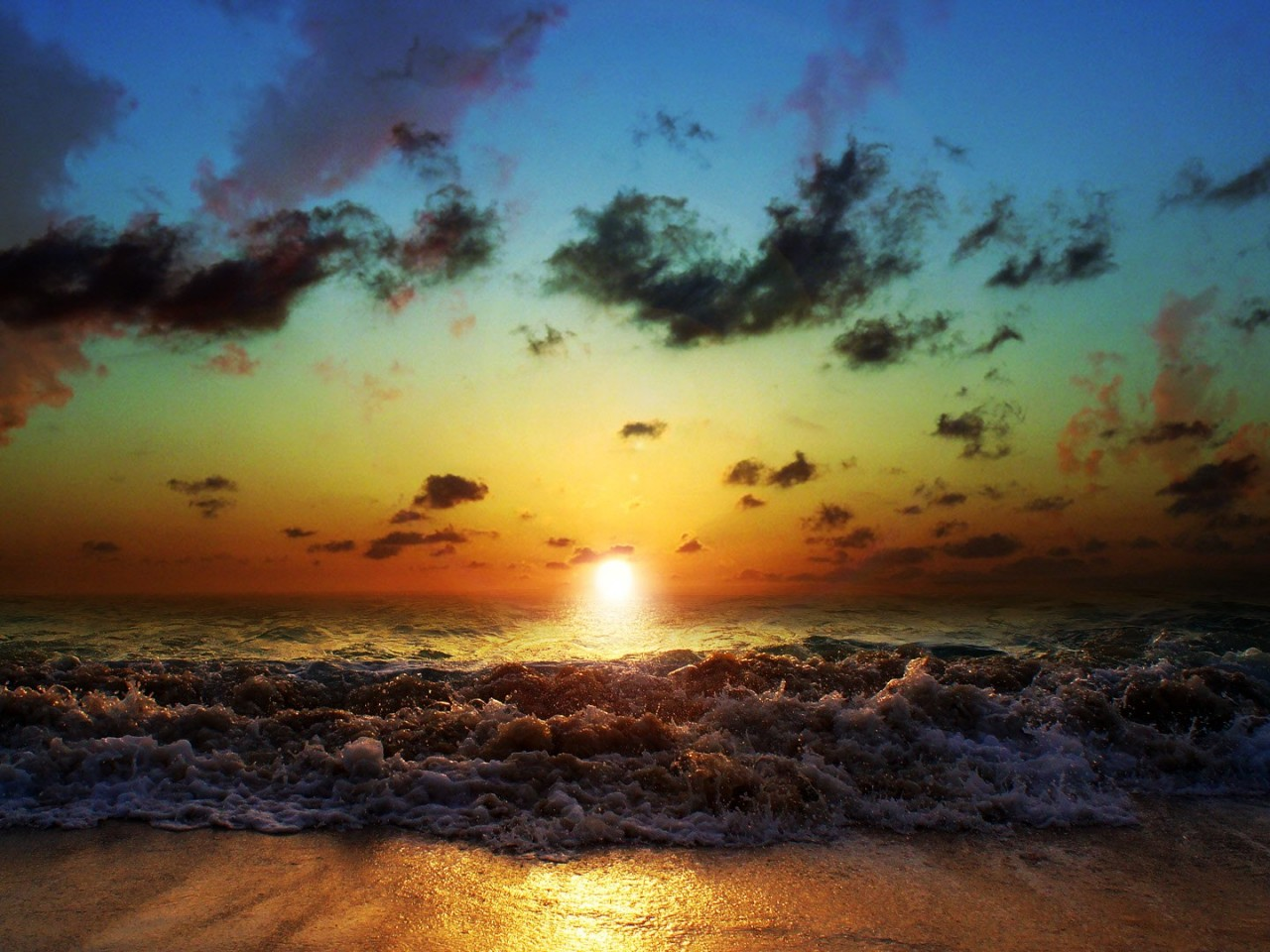 Sunset Sun And Sea Nature Wallpaper Hd Wallpapers