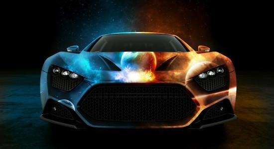Colourful sports car wallpaper