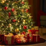 Christmas Tree and Presents Wallpaper