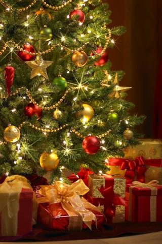 christmas tree background iphone. christmas tree and presents wallpaper iphone background iphone i