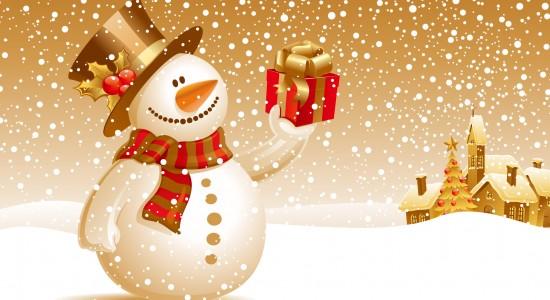 Happy Christmas Snowman Wallpaper
