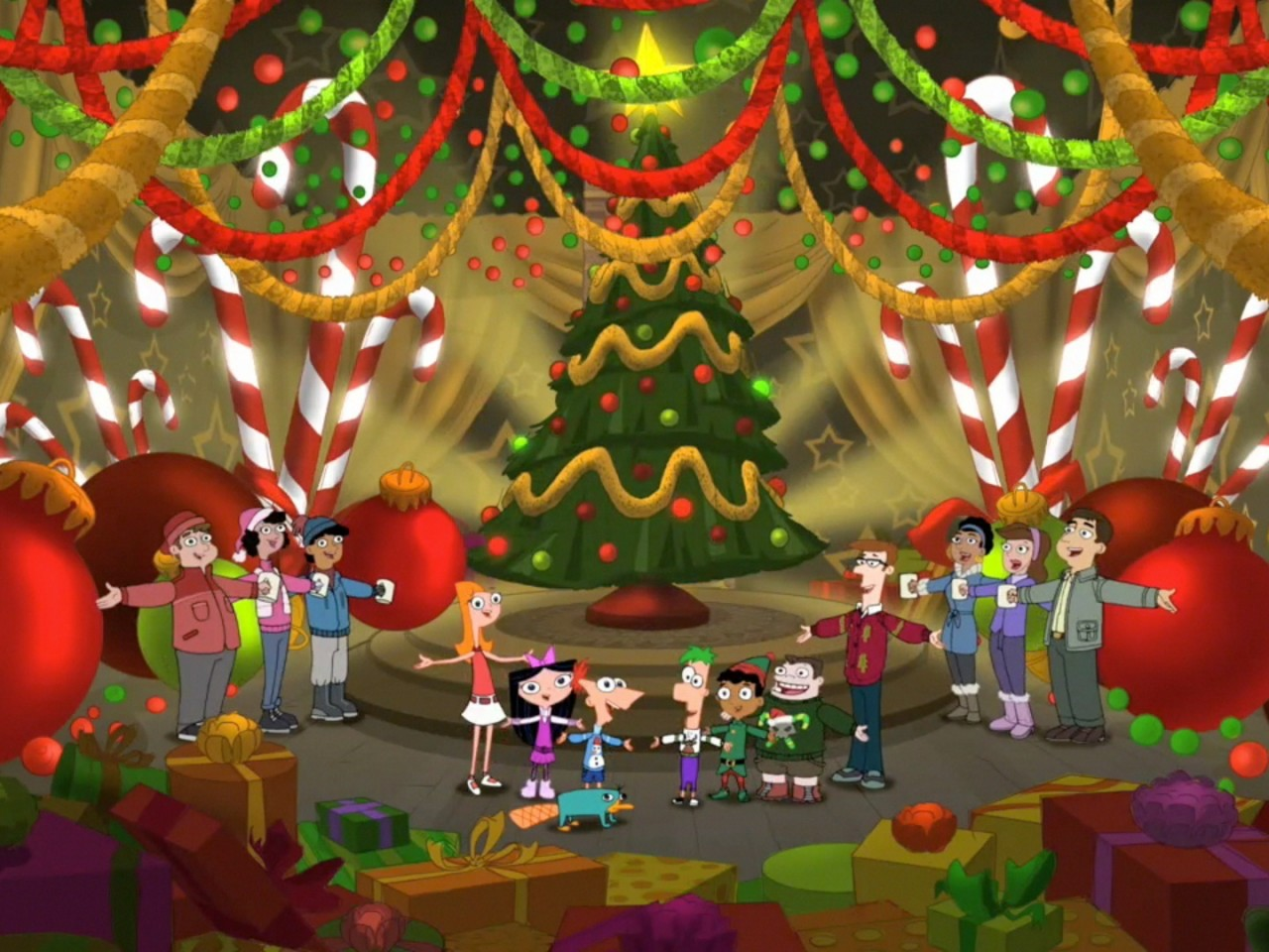 Phineas And Ferb Christmas Wallpaper Hd Wallpapers