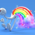 3D HD Funny Rainbow Wallpaper