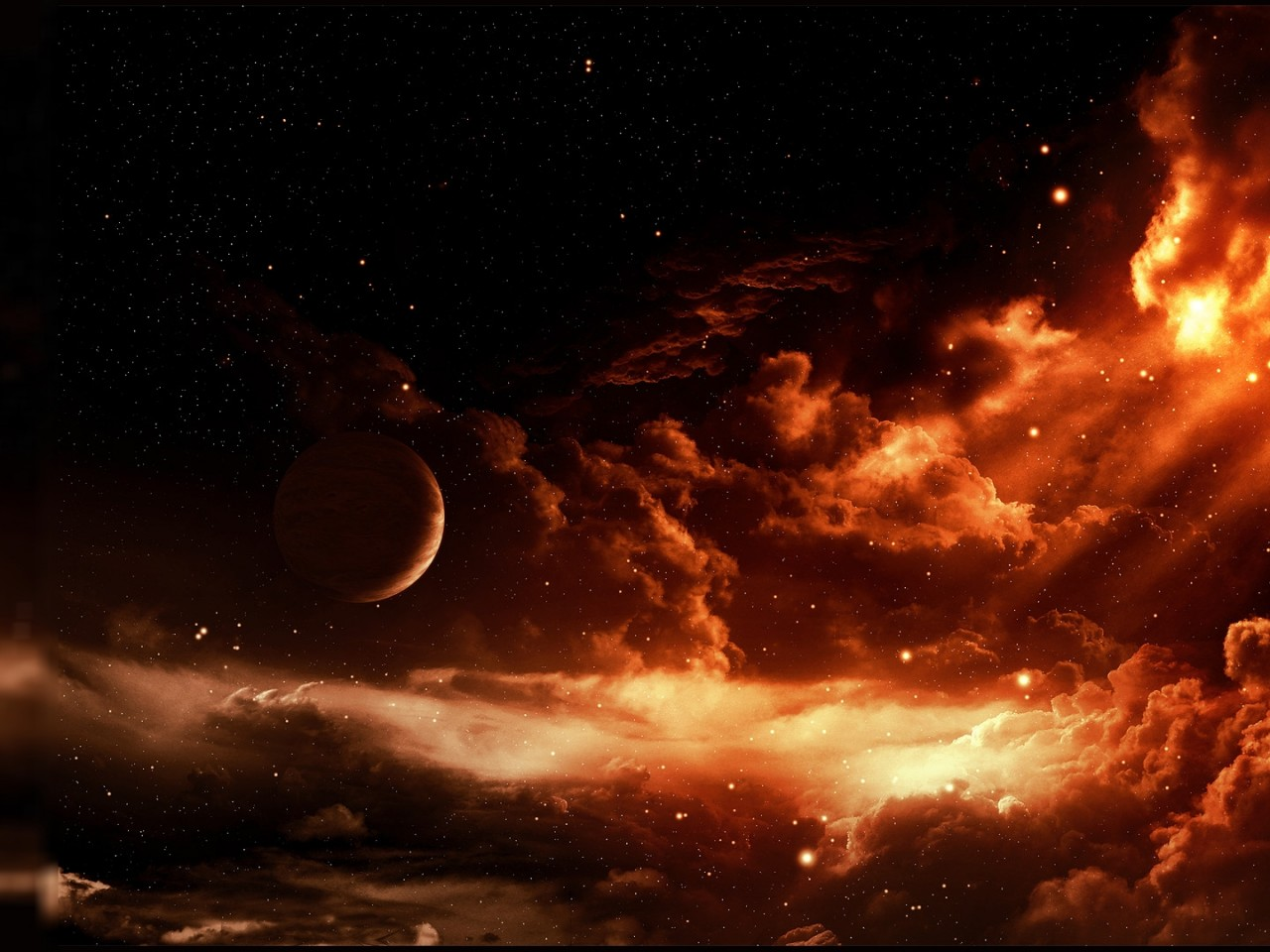 Awesome Firey Space HD Wallpaper High Resolution