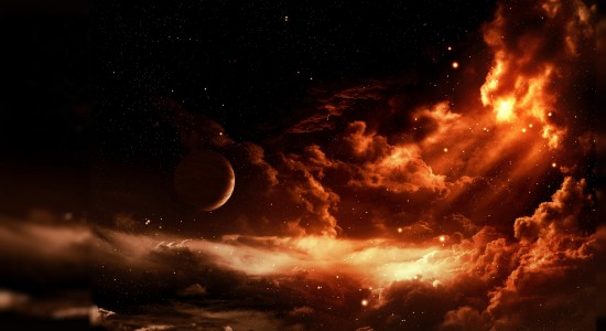 Awesome Firey Space HD Wallpaper