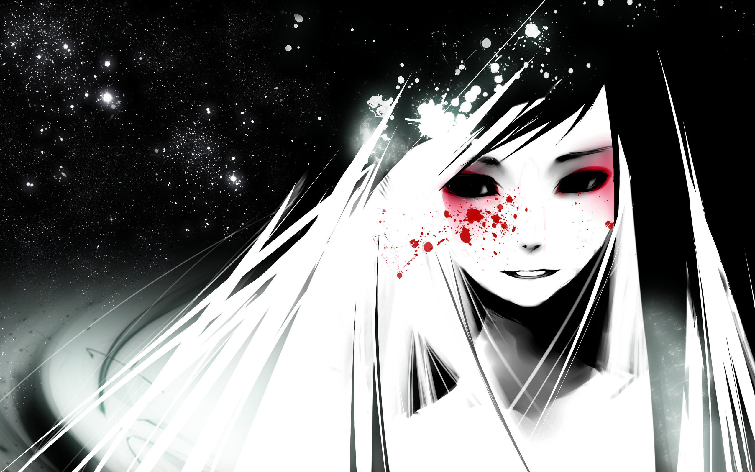 Dark Anime Cartoon Girl HD Image
