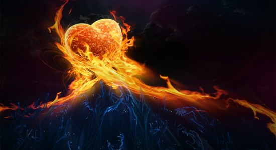 Fire Burning Heart of Passion