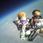 HD Teddy Bears in Space Background Image