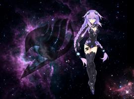 High Res Purple Anime Desktop Background