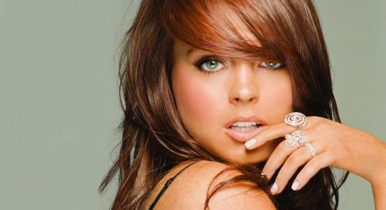 Seductive Lindsay Lohan Background