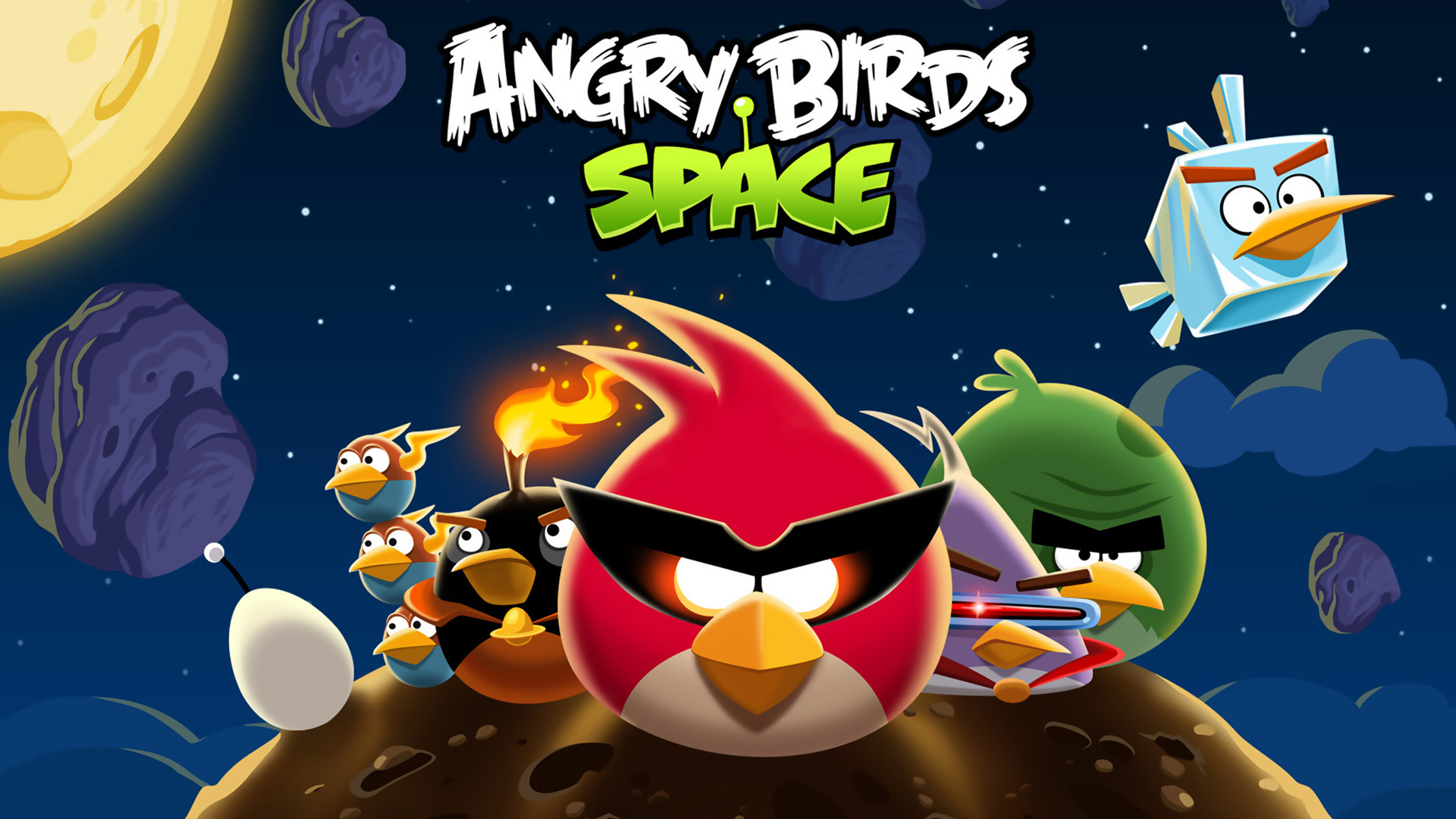 angry birds space hd wallpaper - hd wallpapers