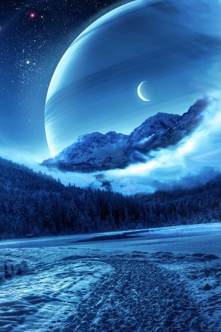Blue Snowcapped Serenity Wallpaper High Definition High Resolution Hd Wallpapers