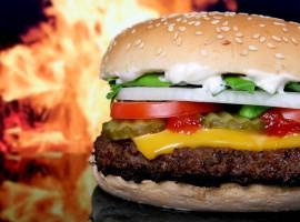 Delicious HD Flaming Cheeseburger