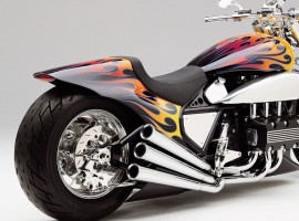 Fast Flaming Superbike