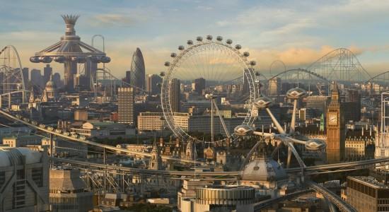 Futuristic Theme Park City