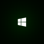 HD Green Minimal Windows 8 Logo