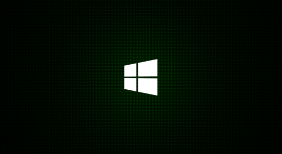 HD Green Minimal Windows 8 Logo