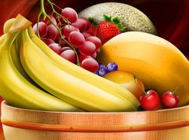 Healthy HD Fruit Basket Wallpaper