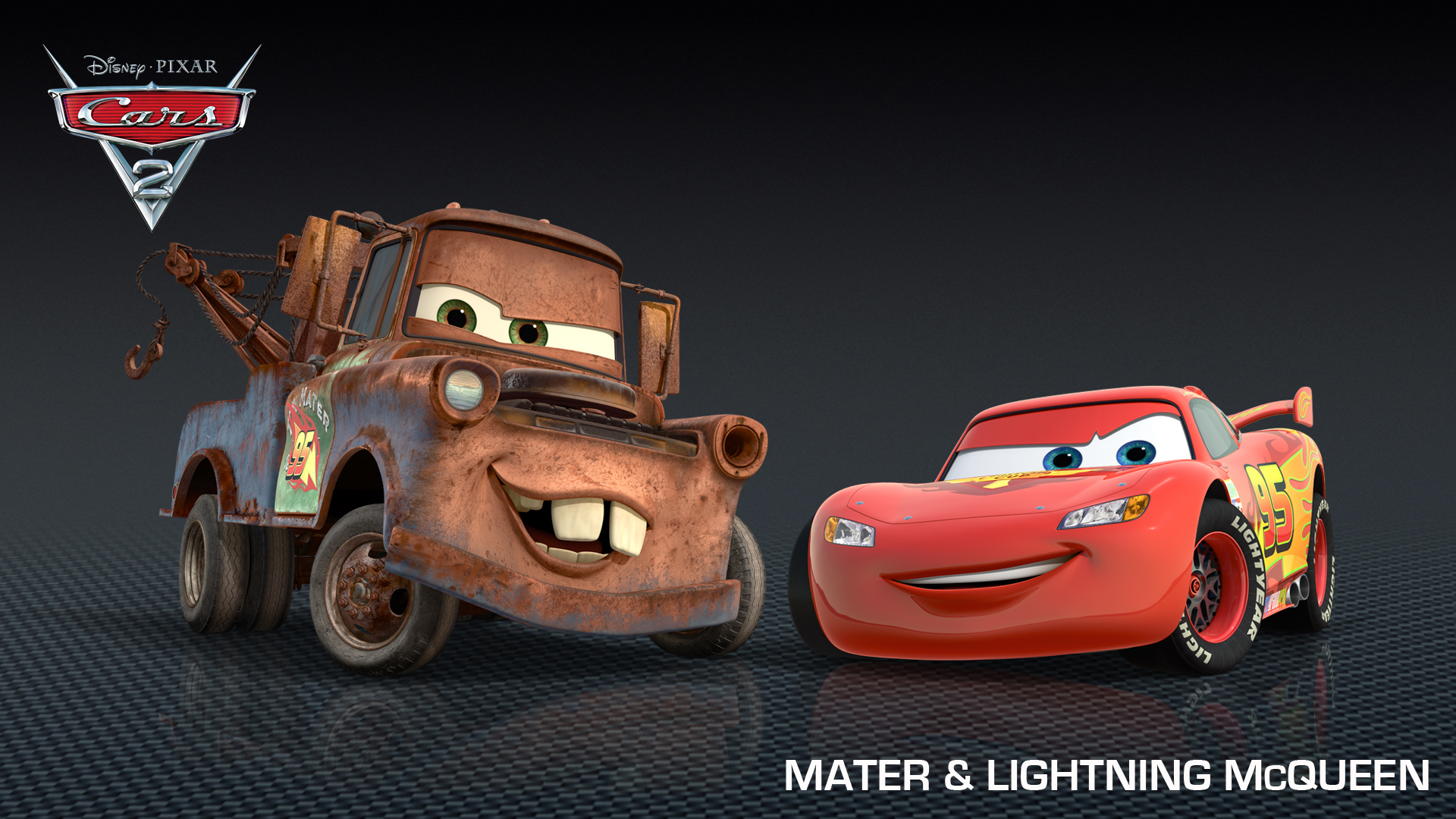 mater lightning mcqueen from cars 2 hd wallpapers. Black Bedroom Furniture Sets. Home Design Ideas