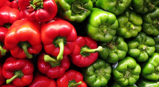 Mouthwatering Red and Green Peppers