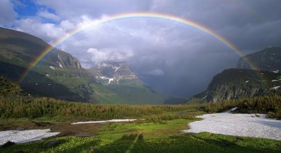 Picturesque High Resolution Rainbow Background